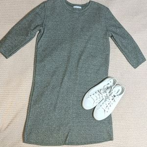 ZARA 3/4 SLEEVE SWEATER DRESS